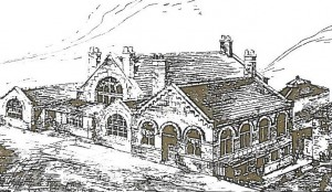 This sketch was the architect's drawing of the 1909 building.