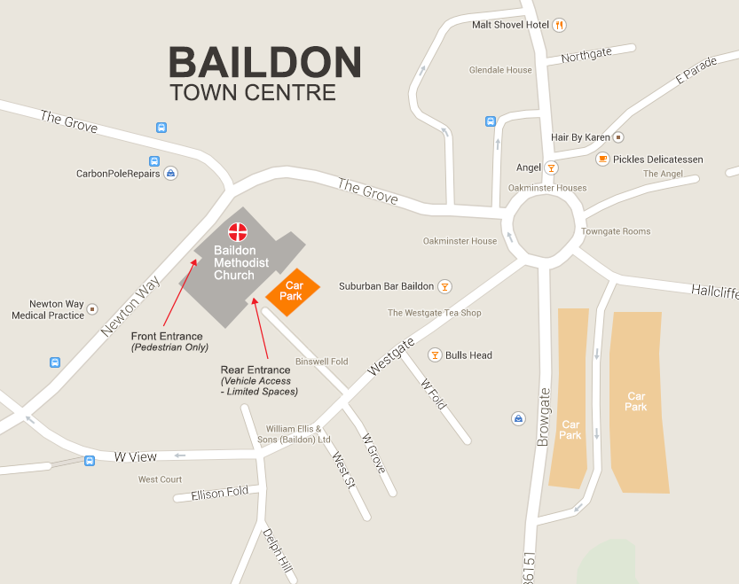 Baildon-Methodist-Church-Map